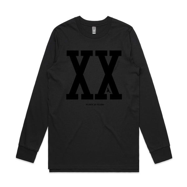 Fuzen XX Mens Long Sleeve Black/Black