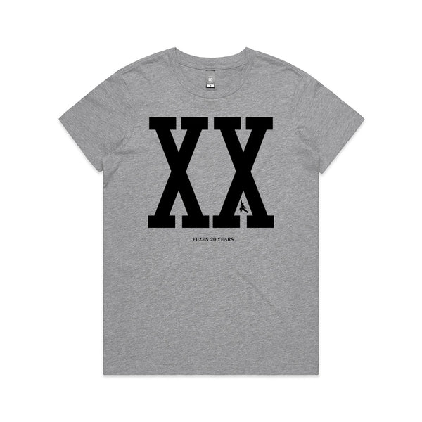 Fuzen XX Womens Tee Grey/Black