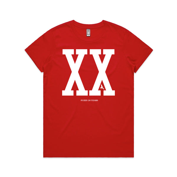 Fuzen XX Womens Tee Red/White