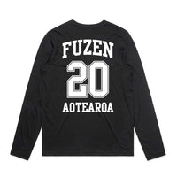 Fuzen 20 Mens Long Sleeve Black/White