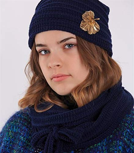 Railroad Hat & Scarf Knitting kit - DesignEtte