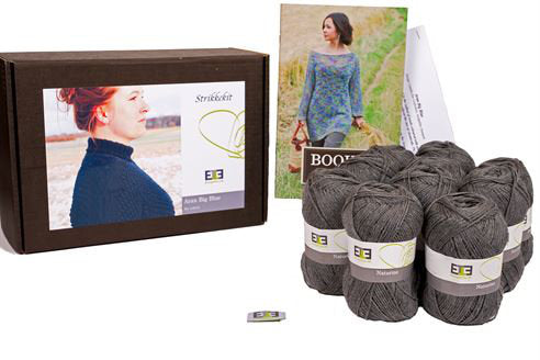 Aran Big Blue Knitting Kit (Merino Wool) - DesignEtte