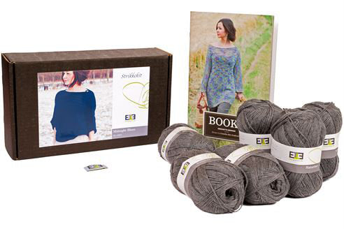 Midnight Blues Knitting Kit (Merino wool) - DesignEtte