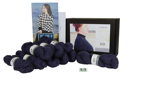 Aran Big Blue Knitting Kit (Shetland wool) - DesignEtte