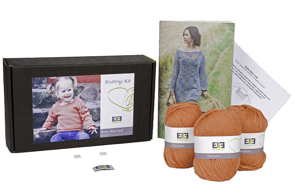 Rubia Baby Leaf Knitting Kit - DesignEtte