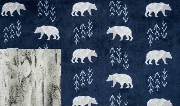 Navy Bears with Silver Fox
