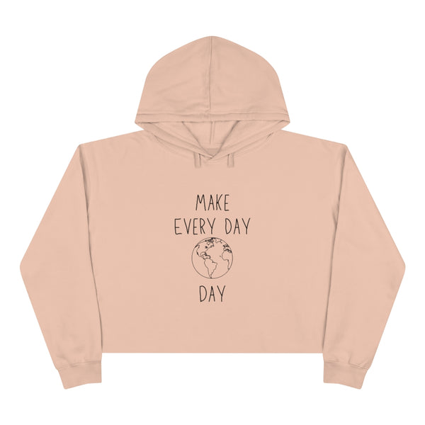 EVERY DAY EARTH DAY CROP HOODIE MERCH