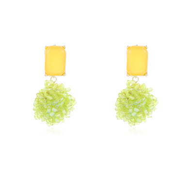 Le Earring Yellow/ Lime