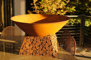 Fire Bowl & Weave Base 80X80X48CM HIGH