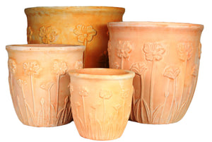 Poppy Bell Pot Set 4 sizes