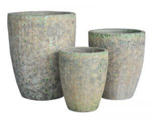 Ancient Snake Skin Crucible Pot 3 sizes