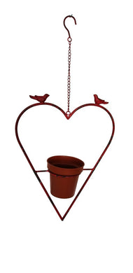 Planter Heart Shaped Metal Pot Plant Hanging Wedding Garden Decor