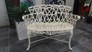Cast Aluminium Scroll Loveseat