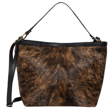 Load image into Gallery viewer, Slovakia- Brindle Cowhide and Black Leather Ladies Bag