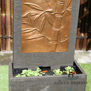 BAMBOO COPPER WALL FOUNTAIN