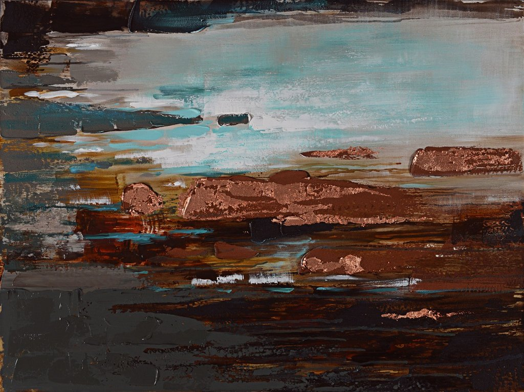 Painting Rock Pools 75X100cm