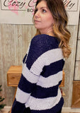 Wide Stripe Knit Sweater