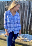 Blue Plaid Button Down