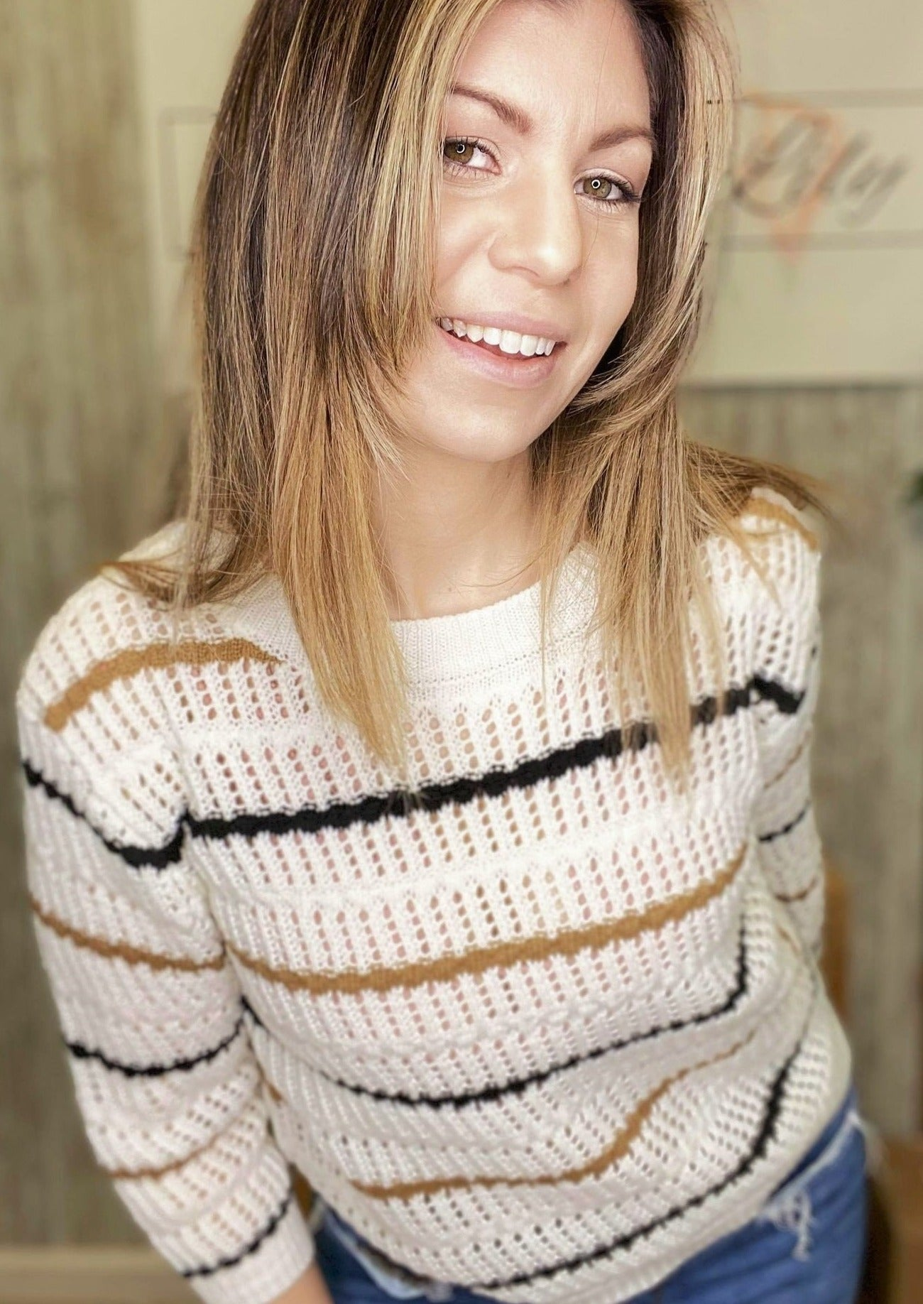 Light Stripe Sweater
