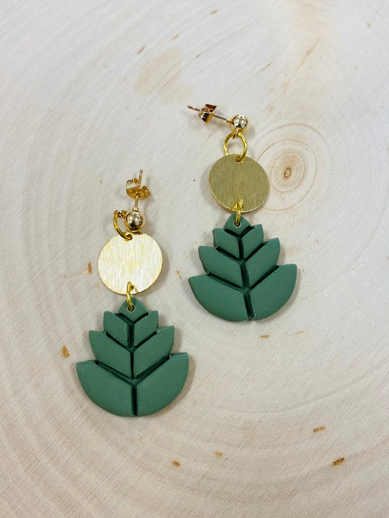 Succulent Guru Clay Earrings