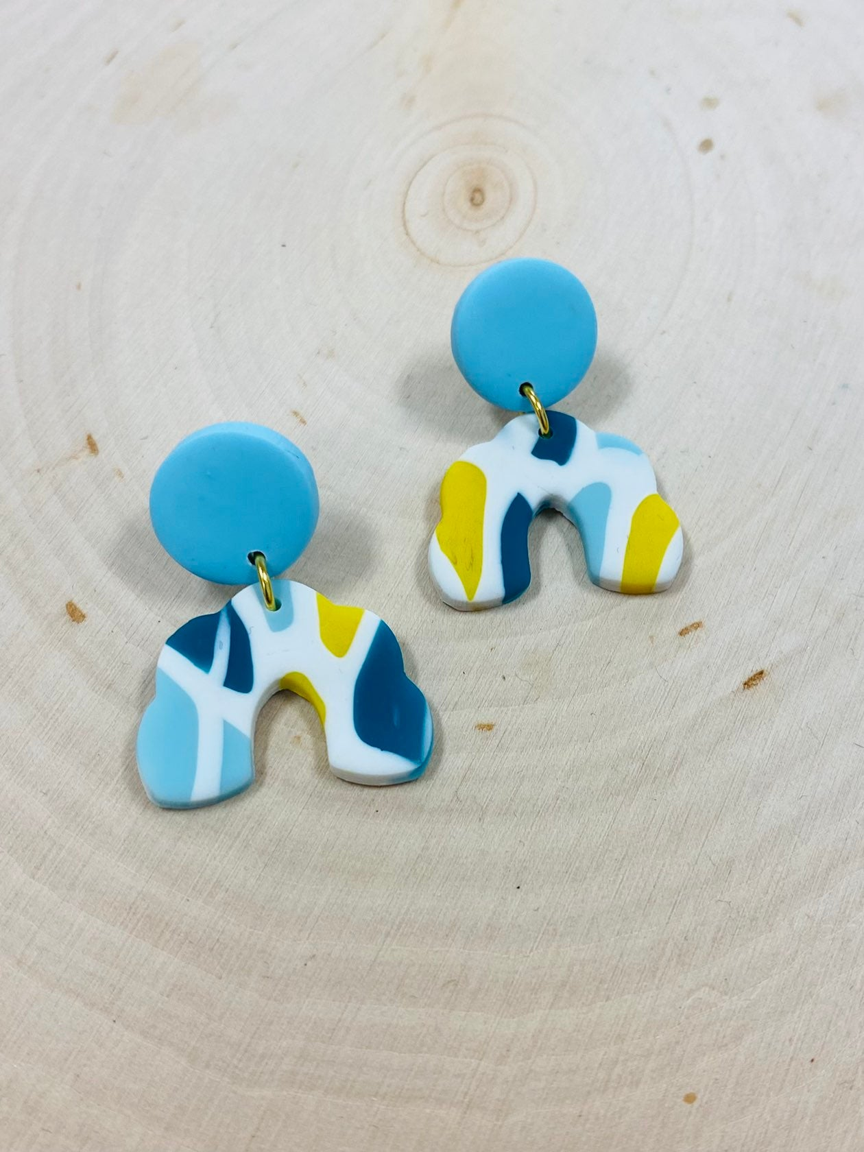 Sea Glass Clay Earrings