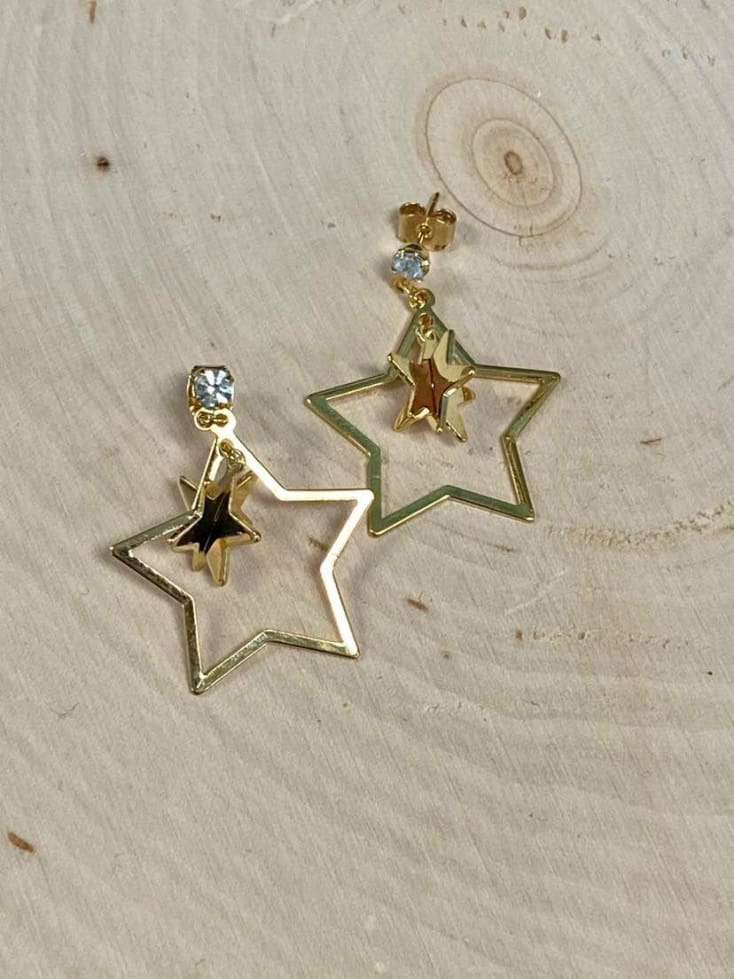 3D star Earrings - Cozy Calla Lily Boutique
