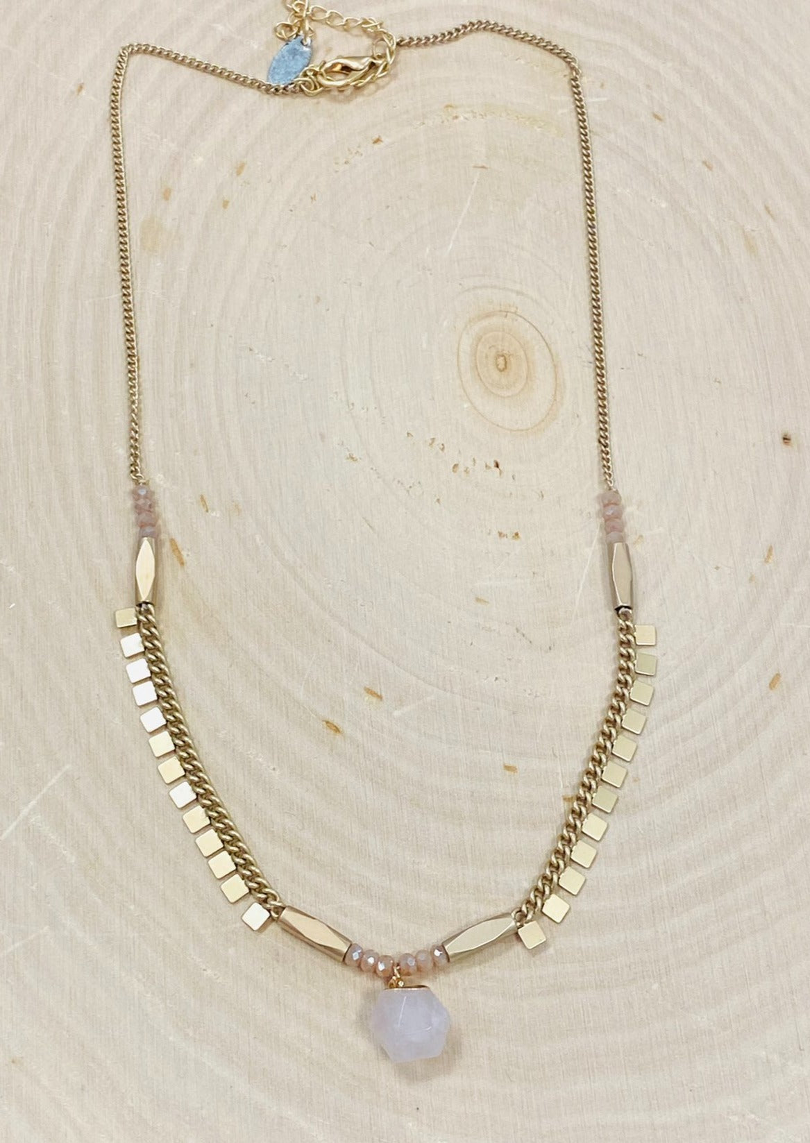 Darling Pink and Gold Necklace