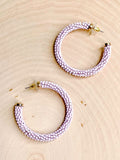 Lust In Lavender Hoop Earrings