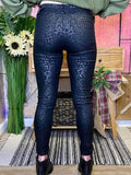 Black Cheetah Jeggings - Cozy Calla Lily Boutique