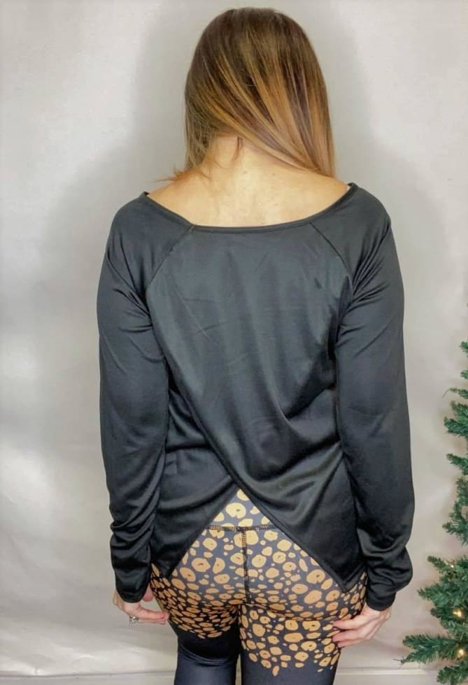 Black Sport Top - Cozy Calla Lily Boutique