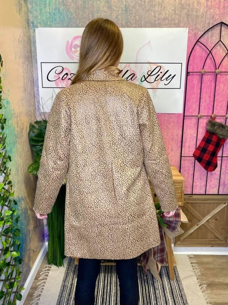 Cheetah Blazer - Cozy Calla Lily Boutique