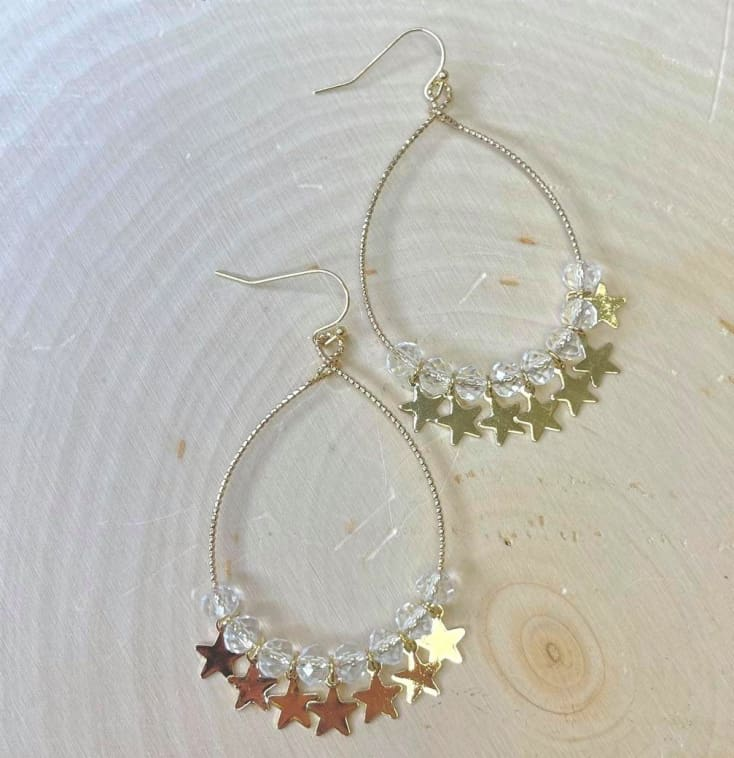 Crystal Star Earrings - Cozy Calla Lily Boutique