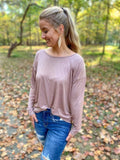 Dotted Drop Sleeve Top - Cozy Calla Lily Boutique