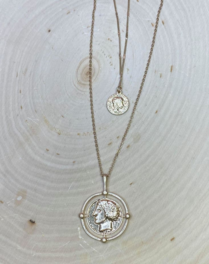 Double Coin Necklace - Cozy Calla Lily Boutique