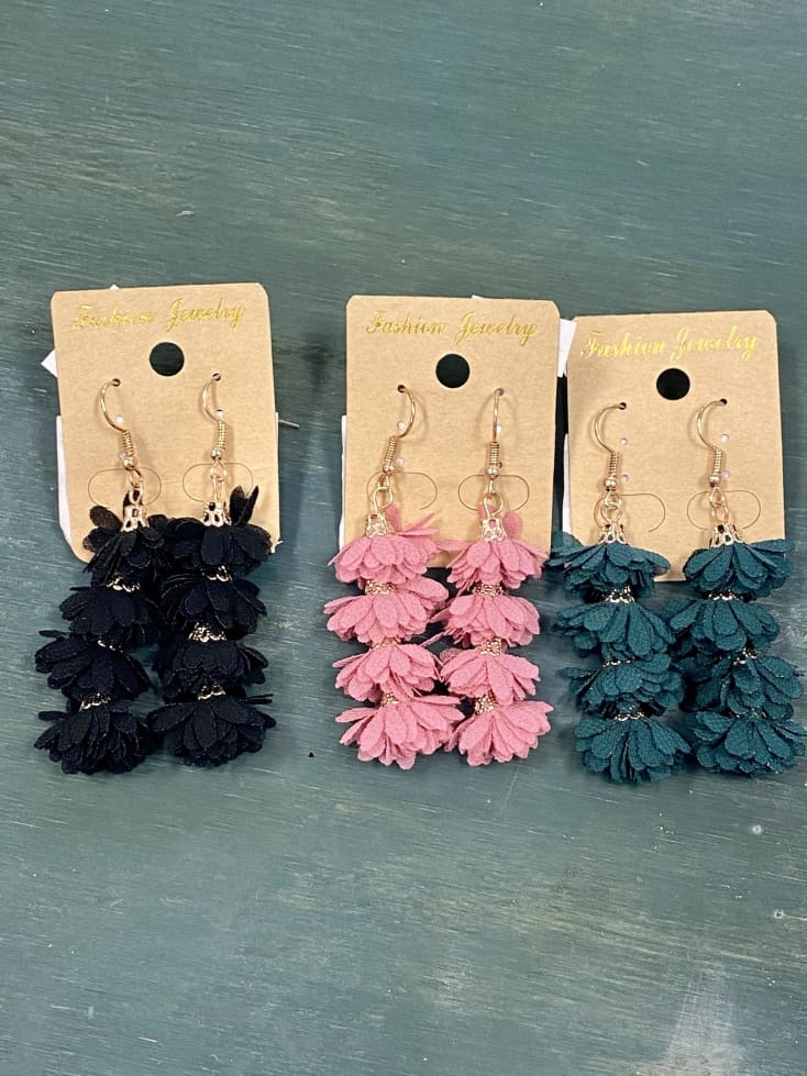 Drop Flower Earrings - Cozy Calla Lily Boutique
