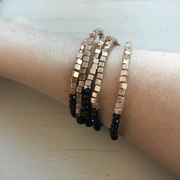 Emrie Bracelet set - Black - Cozy Calla Lily Boutique