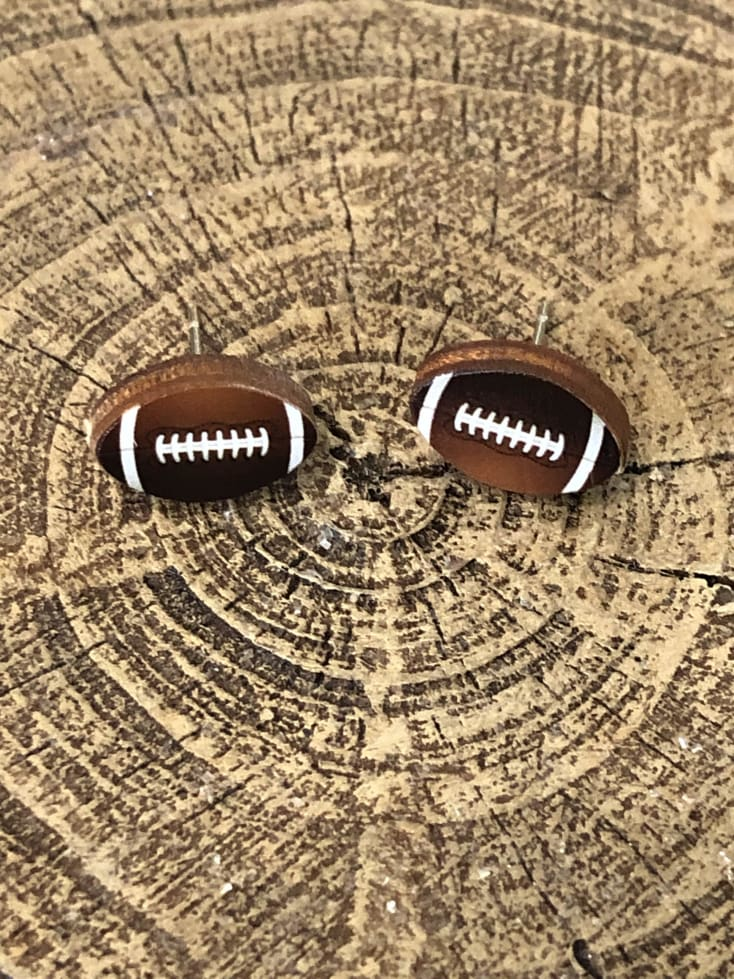 Football Stud Earrings - Cozy Calla Lily Boutique