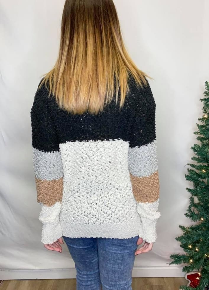 Glam Popcorn Sweater - Cozy Calla Lily Boutique