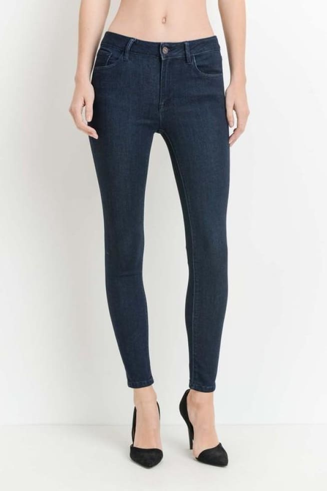 JUST-USA Indigo Dark wash Skinny Jeans - Cozy Calla Lily Boutique