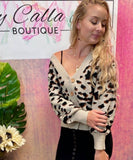 Leopard Cropped Cardigan - Cozy Calla Lily Boutique