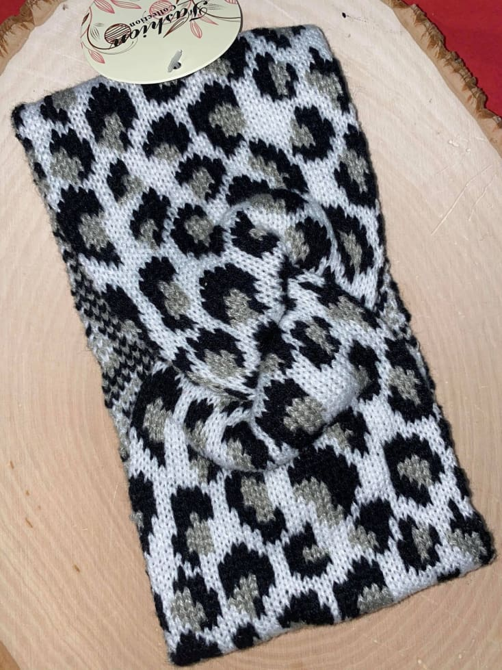 Leopard knitted Headwrap - Cozy Calla Lily Boutique