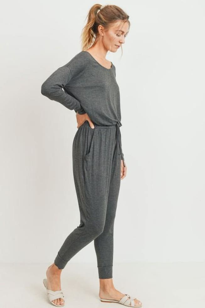 Long Sleeve Jersey Jumpsuit - Cozy Calla Lily Boutique
