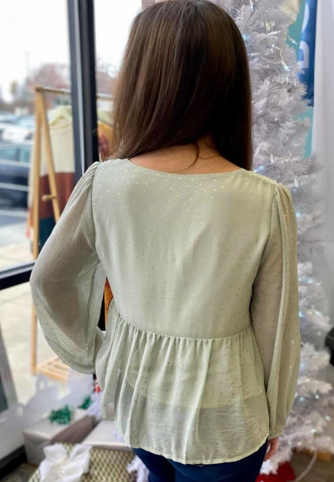 Matcha Speckled Top - Cozy Calla Lily Boutique