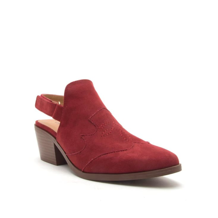Montana Red Slingback Mule bootie cozy calla lily