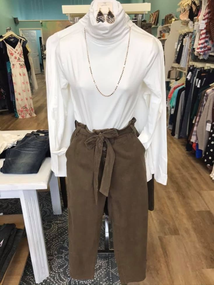 Olive Pant - Cozy Calla Lily Boutique