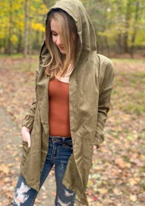 Olive Utility Jacket - Cozy Calla Lily Boutique