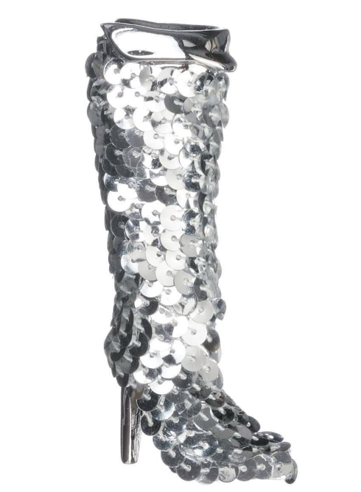 Silver Boot Ornament - Cozy Calla Lily Boutique