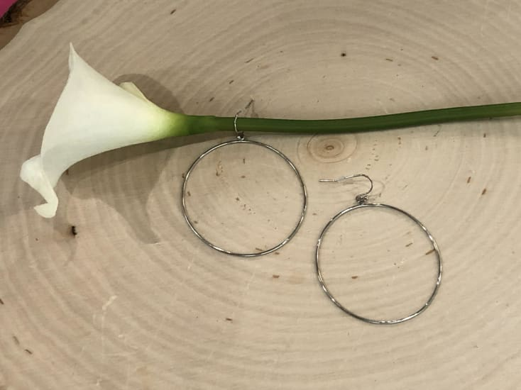 Silver Hoop Earrings - Cozy Calla Lily Boutique