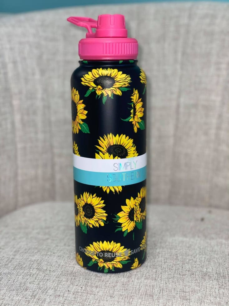 Stainless water bottle 40oz - Cozy Calla Lily Boutique