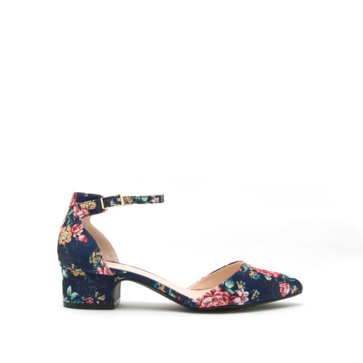 Swing Back Navy Floral Shoe - Cozy Calla Lily Boutique